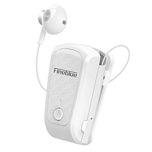 Auriculares Bluetooth inalámbricos originales FQ-10 Pro FineBlue In-Ear V5.0 Headset Manos libres Aviso de Vibración Wear Clip Manos Libres para Smartphone (Blanco)