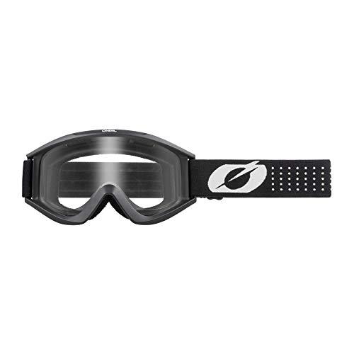 O'NEAL | Fahrrad- & Motocross-Brille | MX MTB DH FR Downhill Freeride | Hochwertige 1,2 mm-3D-Linse für ultimative Klarheit, UV-Schutz | VAULT Goggle Solid | Schwarz Weiß | One Size