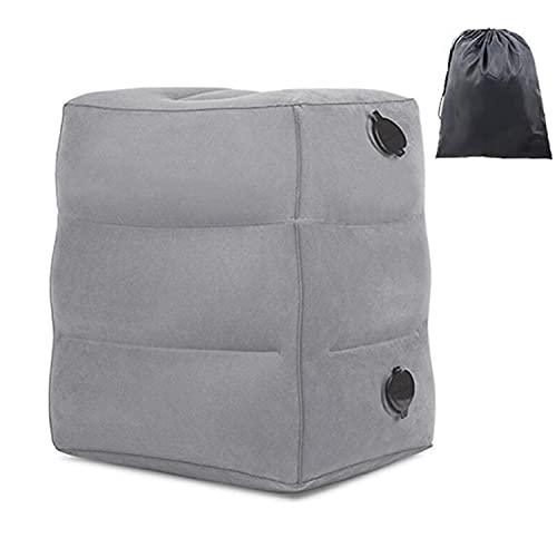 Reposapiés hinchable, taburete hinchable para relajar tus piernas, silla portátil y reposapiés.
