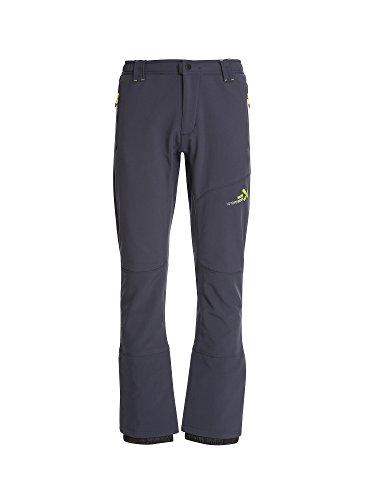 Rock Experience Trikera Pant Pantalon d'hiver en Softshell pour homme (Avio Bleu, XL)