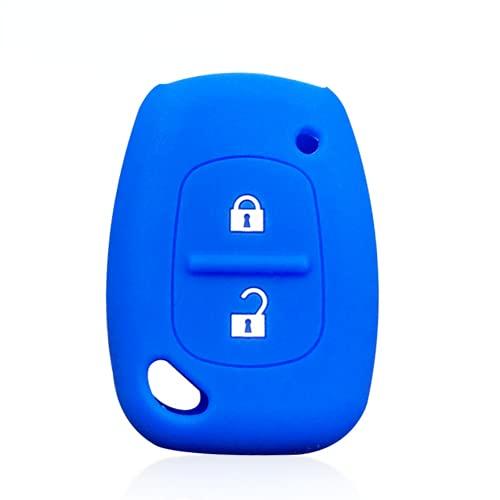 Ninuypoy Protector de Funda de Silicona para Llave de Coche con Control Remoto de 2 Botones, para Renault Clio Traffic Kangoo Master, para Opel Vauxhall Vivaro Fob Jacket