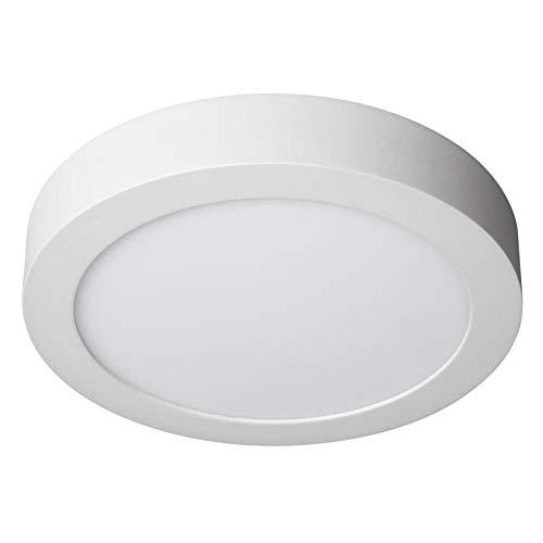 JANDEI - 2x Downlight LED 24W Redondo De Superficie Luz Blanca Fría 6000K, Aluminio Aro Blanco Mate