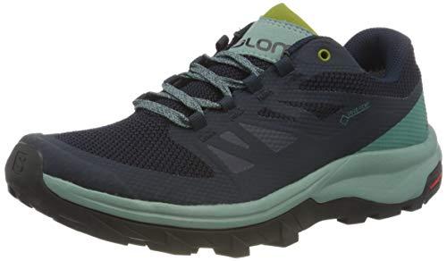 Salomon Women's OUTline GTX W Hiking Shoe, Trellis/Navy Blazer/Guacamole, 6