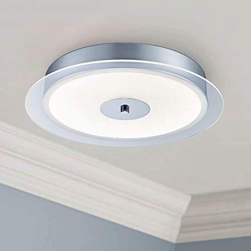 Saint Mossi LED Kristall Deckenleuchter Leuchte voller klarer Kristallchips, 24W LED-Leuchten, 6000K Tageslicht, runde Deckenleuchten für Schlafzimmer Badezimmer Küche Flur Büro Treppenhaus Esszimmer