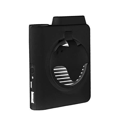 Mogzank Ventilador de Clip de Cintura Recargable USB, Ventilador de Enfriamiento de Trabajo Ventilador de Cuello Personal para Viajar Oficina Al Aire Libre (5000 MAh) - Negro