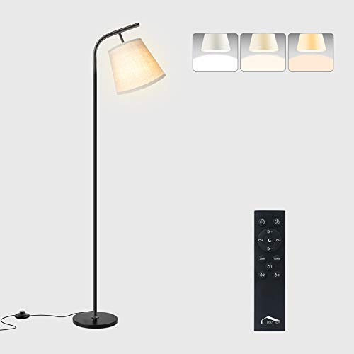 Wellwerks Arc Floor Lamps, Super Bright LED Torchiere Metal Floor Lamps, LED Floor Light with Remote Control,Standing Lamp with Stepless Dimmer for Living Room, Office and Bedroom