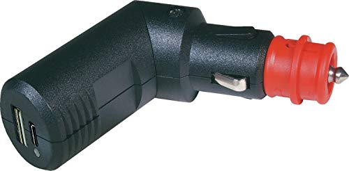 ProCar Doppel USB-C/A Ladestecker winkelbar mit integriertem Spannungswandler Zigarettenanzünder