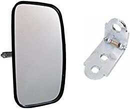 247mm Width x 130 mm Height x 44mm Depth Forklift Panoramic Polycarbonate Mirror with Mounting Bracket