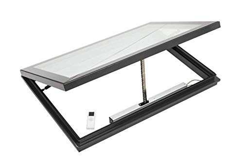 Panoroof Aluminium Electric Opening Laminated Roof Lantern Rooflight Window Flat Roof Skylight (1200mm x 1200mm)