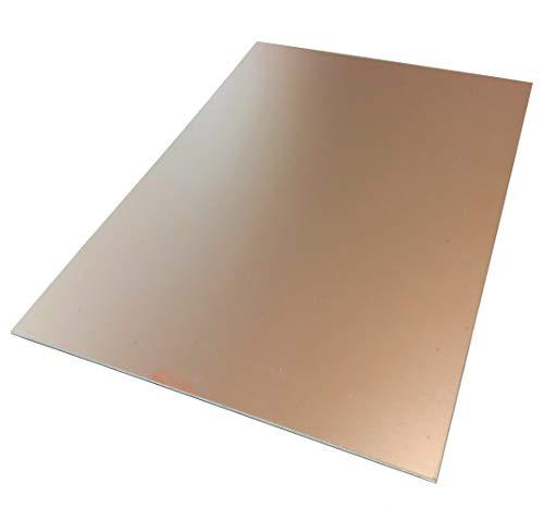 AERZETIX: Piastra foglio di rame per circuito stampato 297/210/1.2mm 35µm resina epossidica fibra di vetro C40723