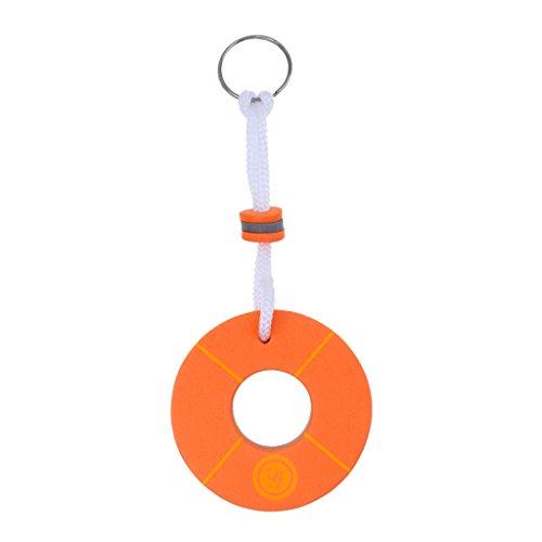 Sharplace Schwimmende Schlüsselanhänger mit Schlüsselring - Boje Form - Orange