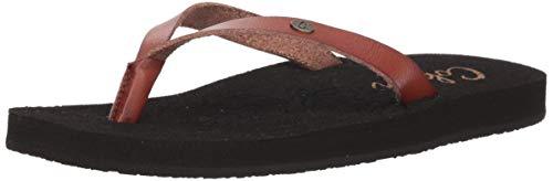 Cobian Women's La Playita Brown Flip Flops, 10