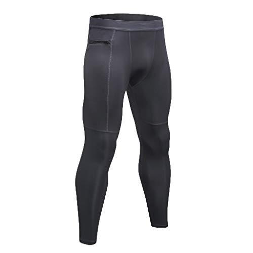 SHE.White Herren Fahrrad Sport Hose Slim Fit Stretch lange Hose Reißverschluss Tasche Fitness Hose Yoga-Hose Zum Ausbildung Jogging Freizeithose