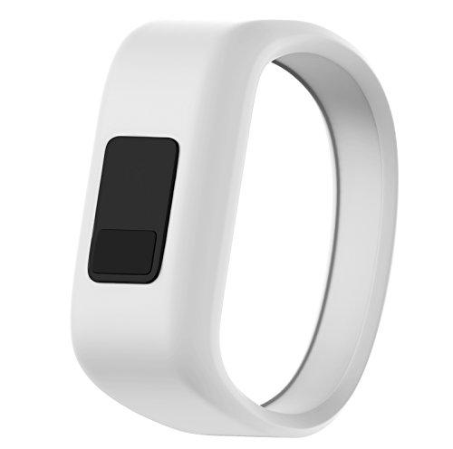 ANCOOL Compatible with Vivofit JR Bands, Soft Kids Wristbands Replacement for Vivofit JR/Vivofit JR2/Vivofit 3 Tracker (White, Large)