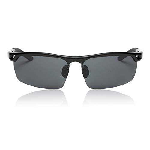 SWEEPID Gafas de sol deportivas ultra ligeras de aluminio y magnesio de alta definición para exteriores, gafas de sol, todo negro