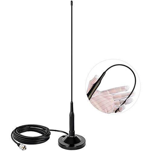 Mobile Radio Antenna Dual Band VHF/UHF 136-174MHz/400-470MHz and PL259...