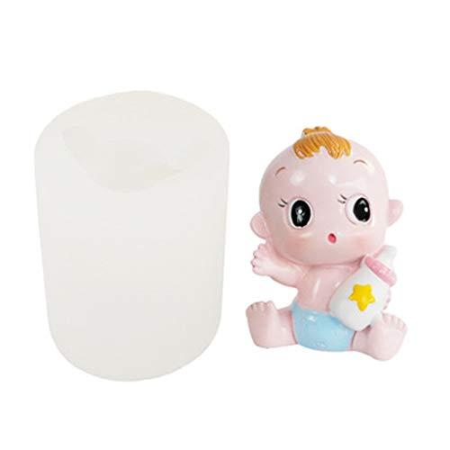 liaobeiotry 3D Neugeborenes Baby Silikon Kerzenform Für Fondant Chocolate Candy Seifenkuchenform Eid Mubarak, Ostern