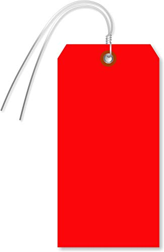 SmartSign Blank Red Tag with Wire   6.25