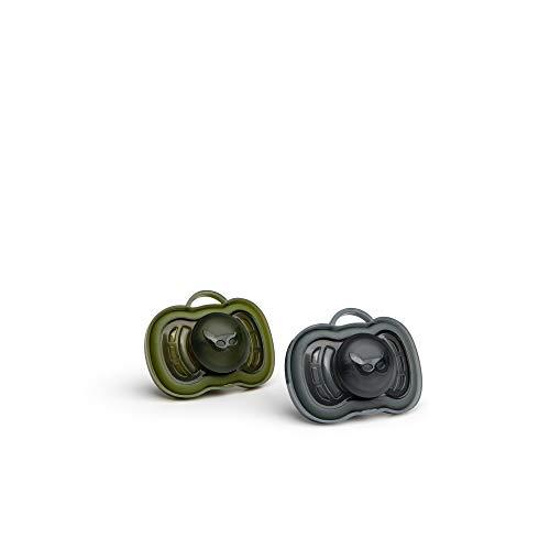 Herobility HPC006BG0201 Schnuller 6m+ (2 Pack), schwarz