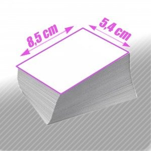 TARJETAS DE VISITA - 350g impresión fotográfica mate - PERSONALIZADOS (archivos suministrados por el cliente)