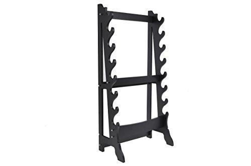 ShenLong – Rack für 8 Waffen, hochwertig, Schwarz