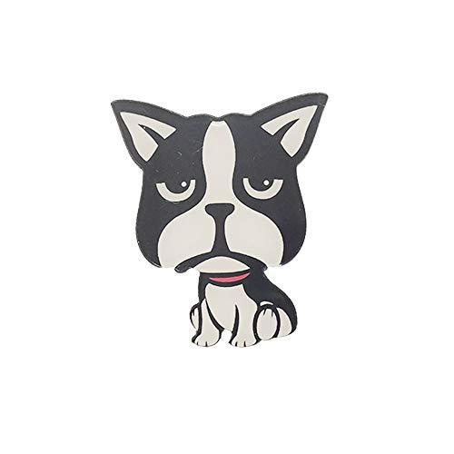 broche Los encantadores broches de cinco perros de broches de animales acrílicos se pueden regalar a amigos o mujeres como decoración de mochila o mochila]],null,en]]]