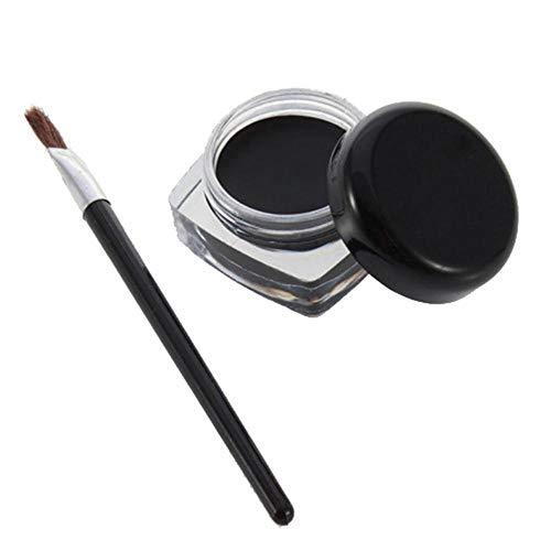 NMT Waterproof Makeup Eyeliner Gel Brush Black Beauty Makeup, Noir