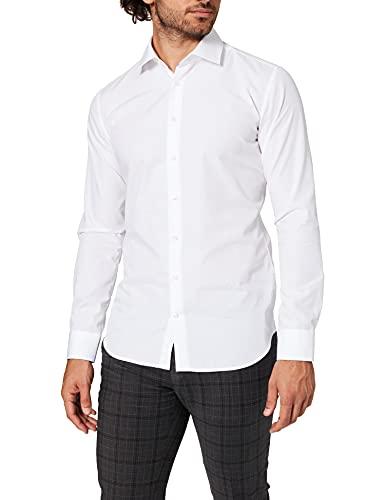 Seidensticker Herren Business Bügelfreies Hemd mit sehr schmalem Schnitt - X-Slim Fit, Weiß (Weiß 01), 40