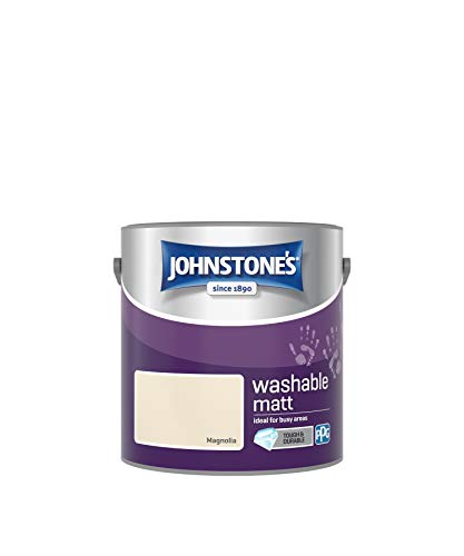 Johnstone's 389574 Washable Waschbar, matt, Magnolia, 2.5