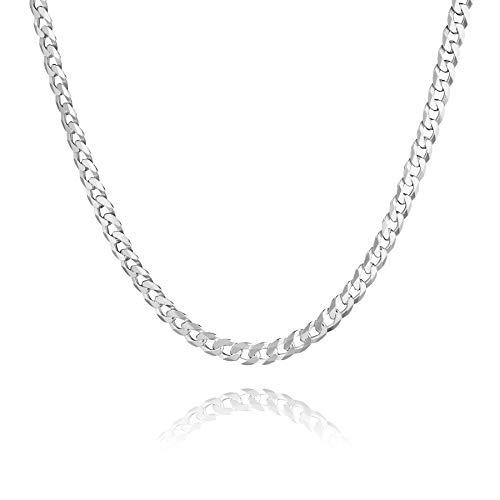 STERLL Herren Halskette Echt Silber 60cm Ohne Anhänger Schmucketui Kleine Geschenke