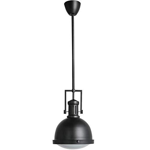 GQQ Lámparas Colgantes Candelabros Lámpara de Techo Suspendida Iluminación de Campana de Hierro Forjado Viento Industrial Nórdico Americano Barra de Sala de Estar Cabeza Única Led Accesorios para el