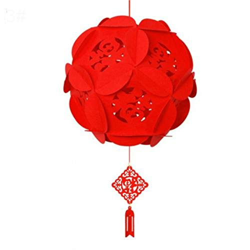 Party Paper Decorations 88Cm Waterproof Good Fortune Red Paper Lanterns for Chinese New Year Spring Festival Party Celebration Home Decor