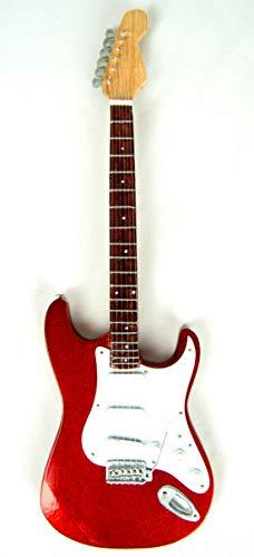 Guitarra decorativa en miniatura (24 cm), color rojo #238
