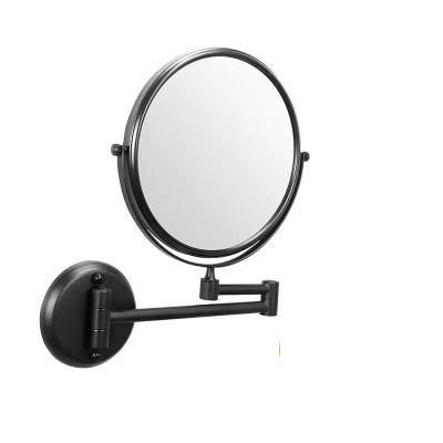 Goquik gratis ponsen badkamer wastafel spiegel 8 inch badkamer muur opknoping ronde badkamer muur vouwen vergroot badkamer spiegel