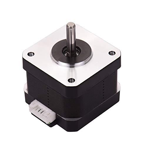 Aibecy Piezas de la Impresora 3D 42-34 Motor Paso a Paso 2 Fases 1.8 Grados Ángulo de Paso 0.4N.M 0.8A Motor Paso a Paso para Creality CR-10 CR-10S Ender 3 Impresora 3D