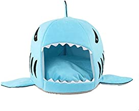 ZRL77y Shark Shape Dog Kennel Cat Bed Pet Products Warm Soft Dogs House Pets Sleeping Bag Cave Cushion Pillow Cats Nest Ma...