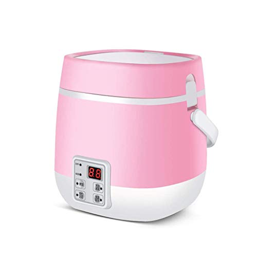 DYXYH Multifunction Electric Cooker, Skillet Wok Electric Hot Pot for Cook Rice Fried Noodles Stew Soup Steamed Fish Boiled Egg (Color : Pink)