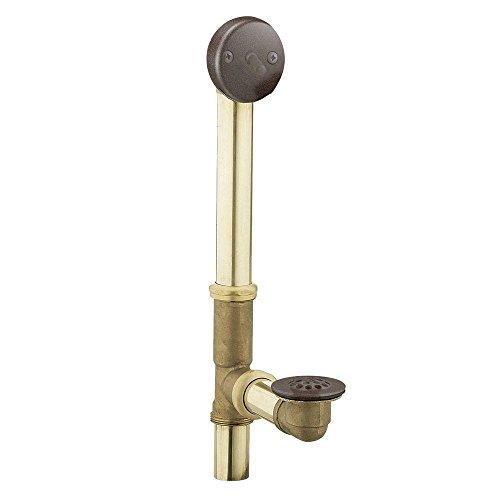 Moen 90410ORB Collection Badewannen-Ablauf mit Auslösehebel für 35,6 cm bis 40,6 cm große Wannen, Oil-Rubbed Bronze, 2.75