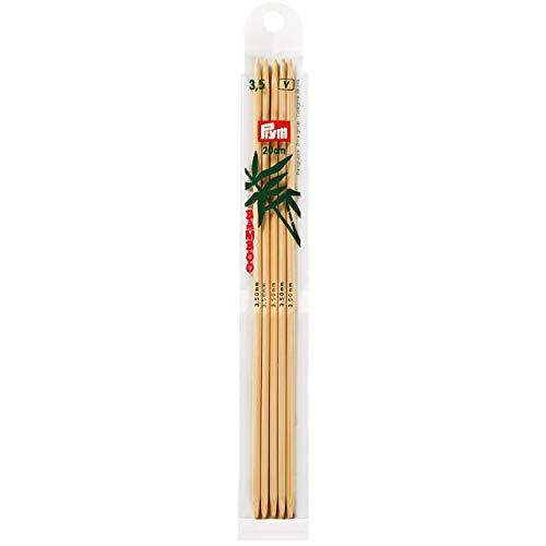 Prym 221213 Strumpfstricknadeln, 20 cm, 3,50 mm Strumpfstricknadel, Bambus, Natur, 3,5 mm