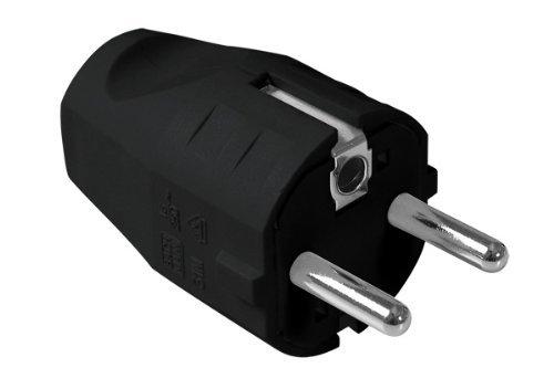 Bachmann 910100 Montagestekker, veiligheidscontact, zwart
