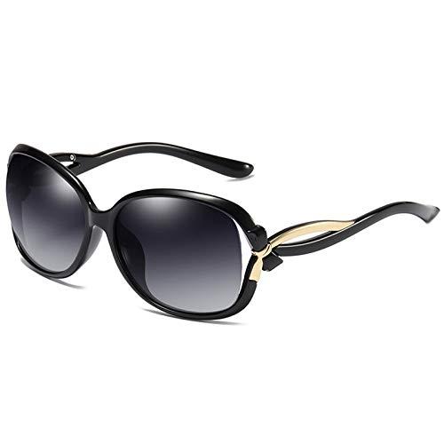 LALB Gafas De Sol De Las Damas De Las Gafas De Sol, Gafas De Sol Estadounidenses, Gafas De Sol Retro Marco Grande para Damas,A