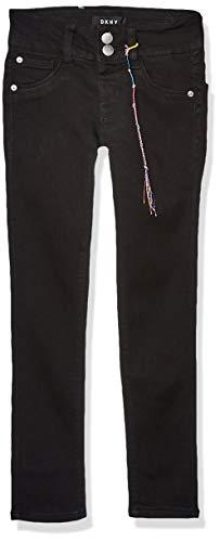DKNY Girls' Big Jegging, A Stretch Denim Black, 7