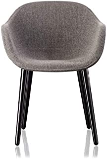 Magis Cyborg Lady Polished Black Armchair with Melange Grey Fabric