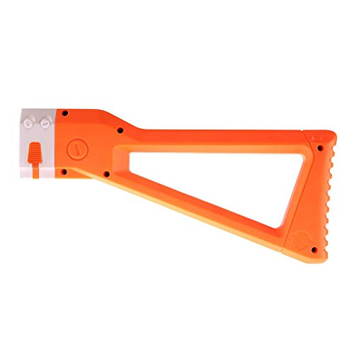 WORKER AK Style Shoulder Stock for nerf N-Strike Elite and Nerf Modulus Series Toys(Orange)