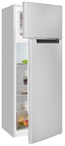 Exquisit Frigorífico y congelador KGC270-45-040F plateado   dispositivo de pie   205 litros de volumen   Plata