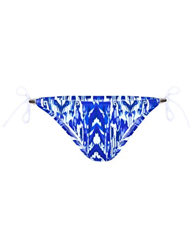 Heidi Klein Little Dix Bay Rope Tie SideBottoms Bikini X Large Blue/White