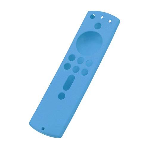 Newest!!!Case Kompatibel mit Amazon Fire TV Stick 4K, Nourich TV Stick Remote Silikon Hülle Schutzhülle Haut,Silikonhülle Anti Slip Fernbedienung Leichte rutschfeste Cover Schutz 5.6Inch (Blau)