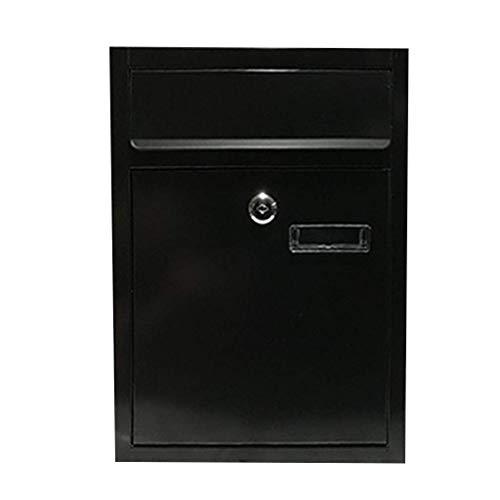 SMX Wall Mount Steel Mail Box Afsluitbare brievenbus w/ophalen deur & 2 sleutels Thuis Office Post Beveiliging Buiten
