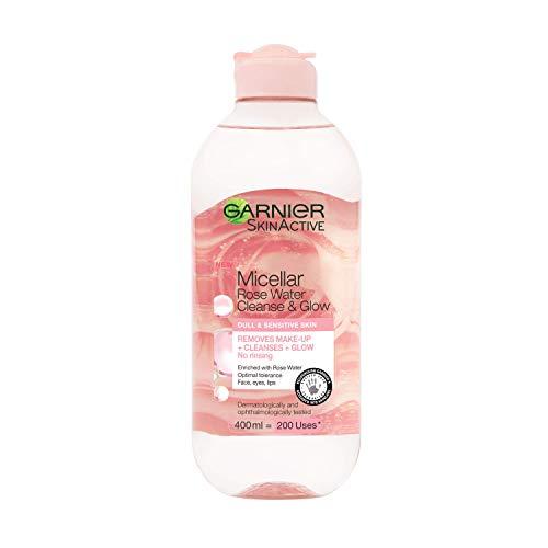 Garnier Micellar Rose Cleansing Water, Glow Boosting Face...