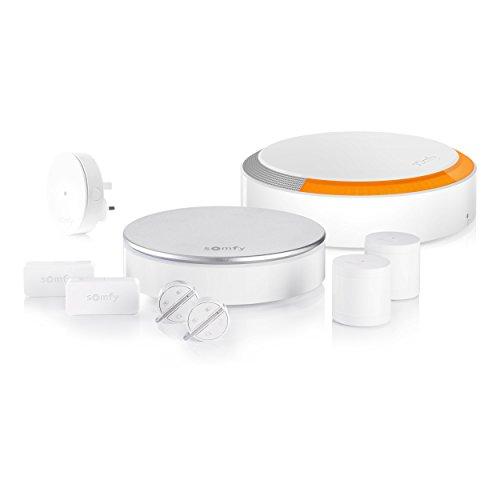 SOMFY 2401506A Premium Home Seguridad Sistema Plug and Play de Alarma con Smart conectividad, Incluye Movimiento, Sirena Exterior, 3 Puertas y Ventanas S
